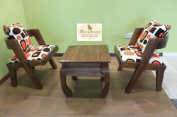 Lounge chair set+Stool