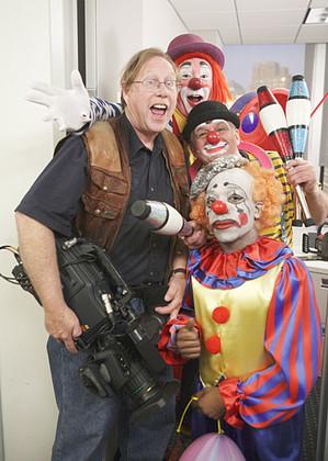 Camera and clowns