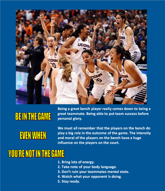 HELP YOUR TEAM FROM THE BENCH