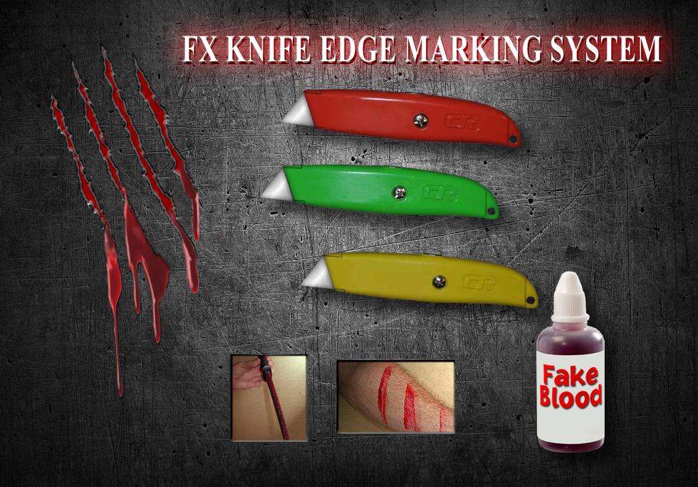 FX Box Cutters Blood Marking