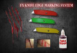 Movie Prop FX Box Cutters Blood Marking
