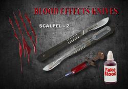 Movie Prop Scalpel 2B FX Blood Knife