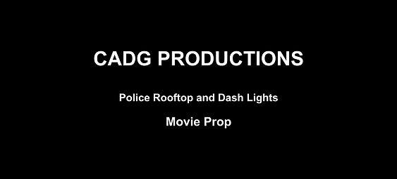 POLICE ROOFTOP AND DASH LIGHTS MOVIE PROP UEENSLAND