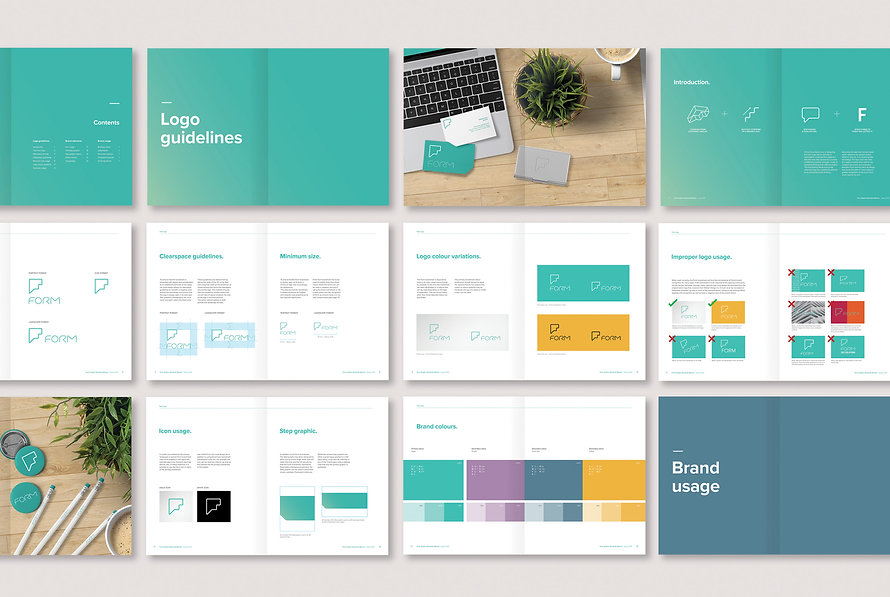 Form branding guidelines designed by Walker Design Co.
