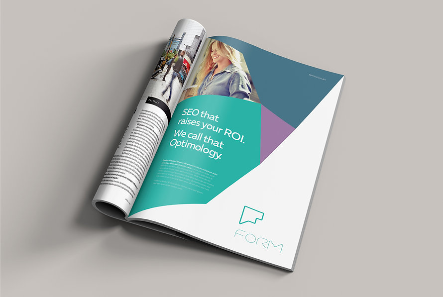 Advertising and publication design for Form
