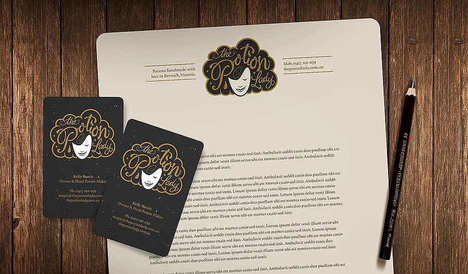 Logo design and creative branding for The Potion Lady