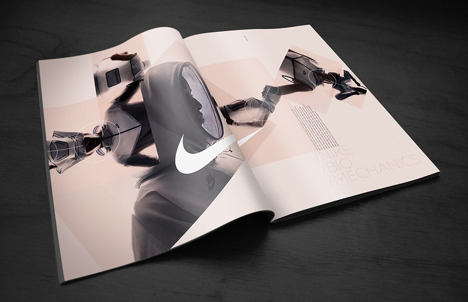 Print ad work for Nike