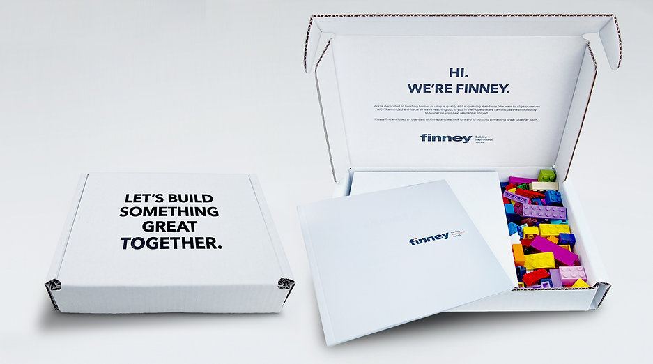 Promotional mailer produced for Finney Construction by Walker Design Co.