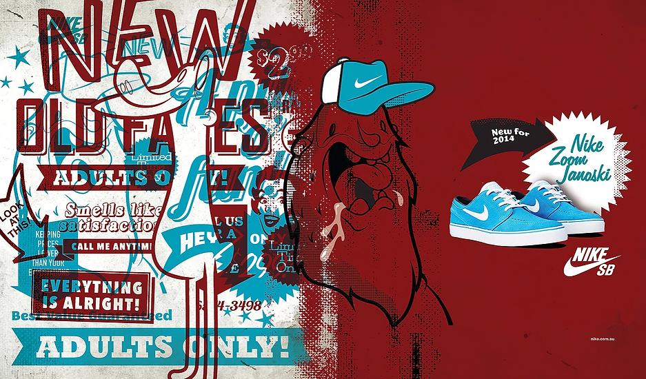 Print ad for Nike Zoom Janoski
