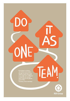 'Our Values' poster series illustration and dsign for REA Group