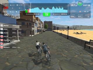 Faire vos entrainements de velo en groupes virtuels