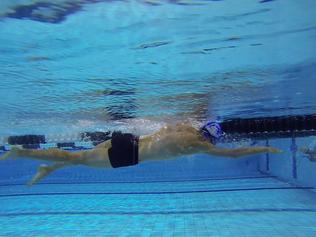 Parcours d'un coureur qui se met à nager
