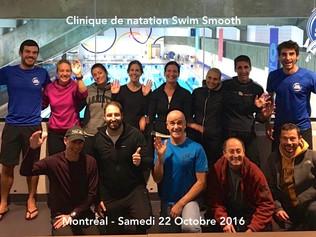 Première Clinique Swim Smooth à Montréal: un vrai succès !