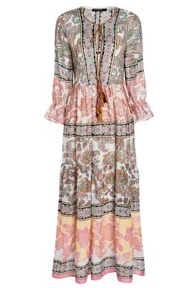 Ana Alcazar Paisley Maxi Dress 048331 Light Pink