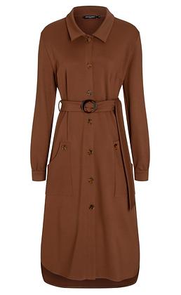 Ana Alcazar Blouse Dress 48092 Brown-Cognac