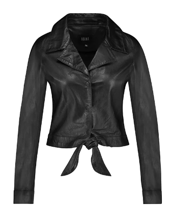 Ibana Diane Leather Blouse Black