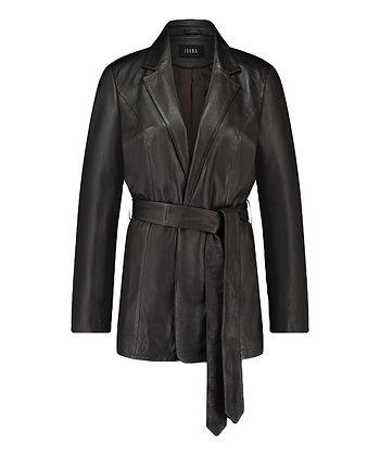 Ibana Joly Leather Blazer Dark Brown
