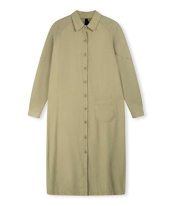 10 days 20-331-1203 Baseball Shirt Dress Khaki