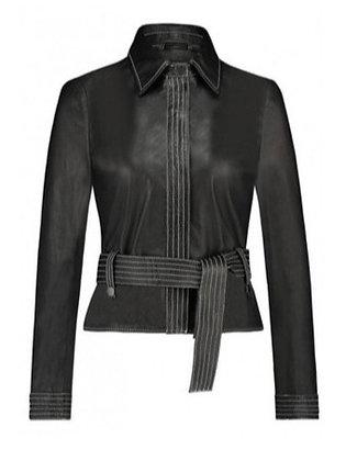 Ibana Steffie LeatherJacket-Blouse Black