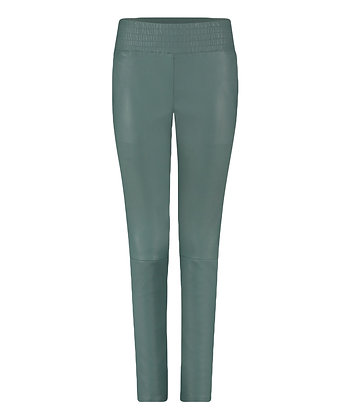 Ibana Colette Stretch Leather Pants Teal