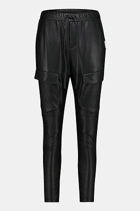 Penn&Ink W21N1015 Vegan Leather Cargo Pants Black