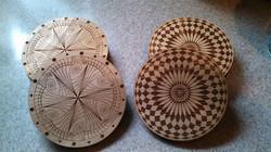 Zentangle and Spirograph on cedar