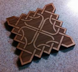 Thin knot coaster