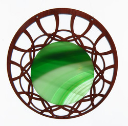 Offset lobe Green Swirl