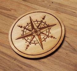 Compas Rose Coaster