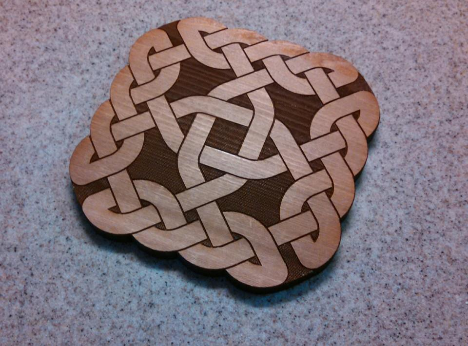 thick knot coaster