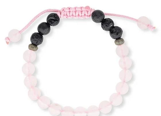 Rose Quartz Kids Aromatherapy Bracelet