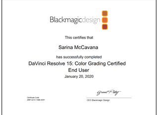 Blackmagicdesign certified