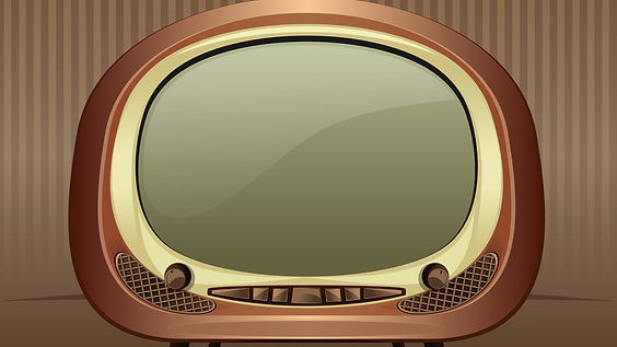 retro-tv-on-a-vintage-background-vector-