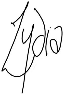 Lydia's signature