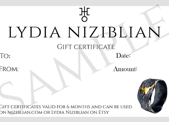 Niziblian Gift Certificate