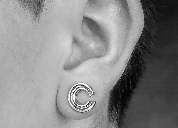 Ensō stud earrings