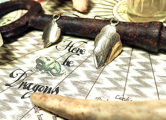 Dragon Scale - gold earrings