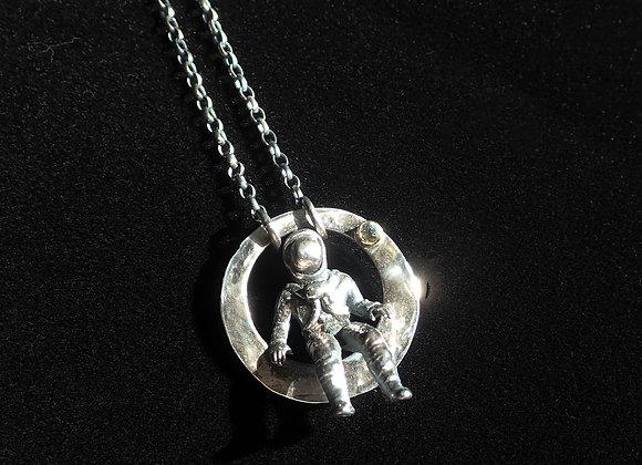 Cosmonaut #2 Pendant With Aquamarine