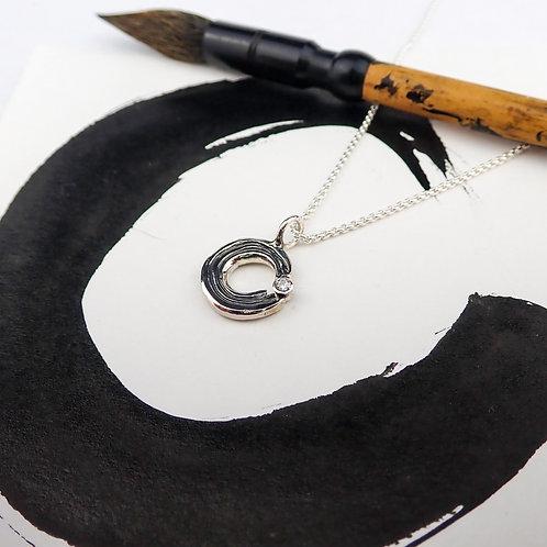 Ensō gemstone pendant