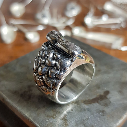 It Comes In Waves Silver Ring