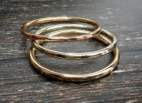 Hammered Gold Stackers