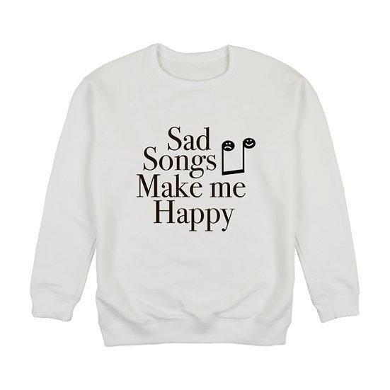 "Світшот футер ""Sad songs makes me happy"""