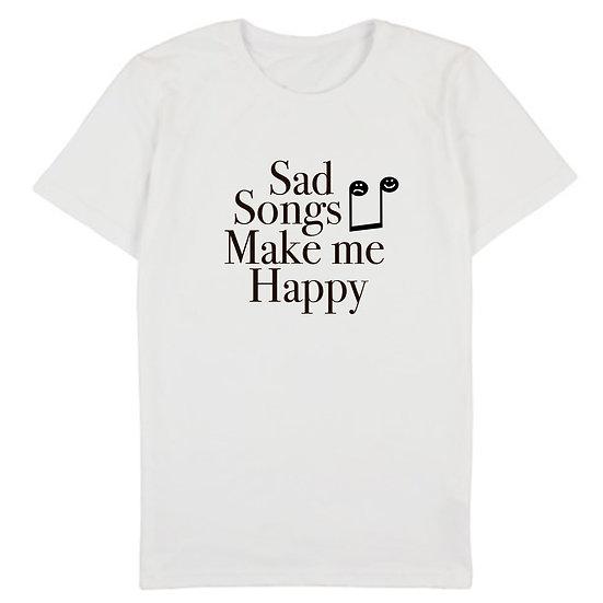 """Футболка """"Sad songs makes me happy"""""""