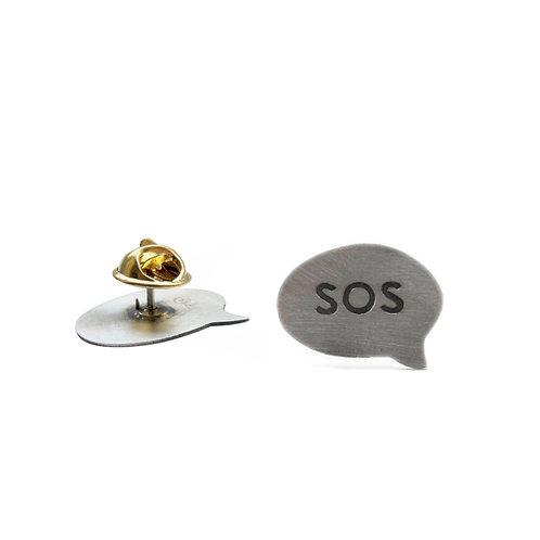 ''SOS'' Brooch