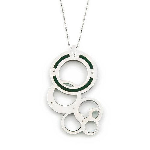 Dark Green Geometric Necklace