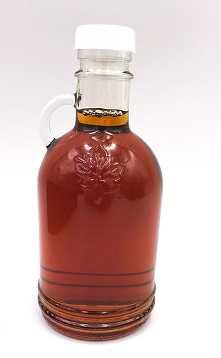 250 mL (8.5 oz) Embossed Maple Leaf Bottle