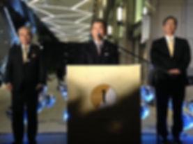 LSM 京橋エドグラン1周年式典 イルミネーション点灯式