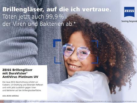 ZEISS Brillengläser mit Antivirus Platinum UV