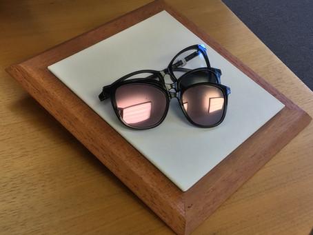 Brille mit Magnet Sonnenbrillen-Clip