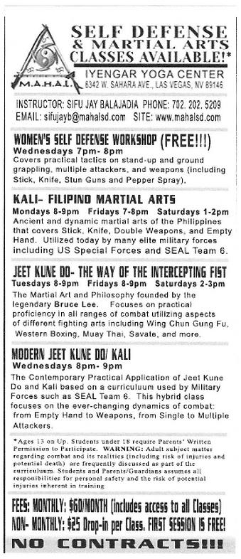 Self Defense & Martial Arts Classes